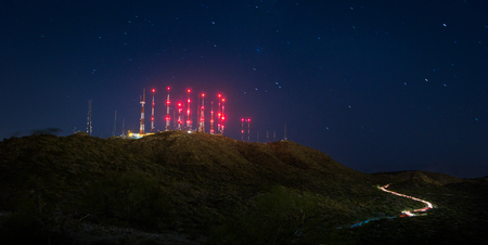 Telecommunications tower at the top of South Mountain in Phoenix, Arizona