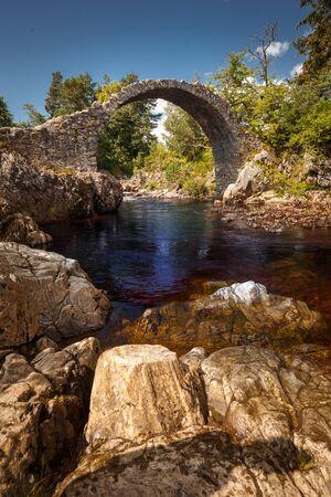 Old Pack Horse Bridge in Dulnain Bridge, Carrbridge, Scotland, UK