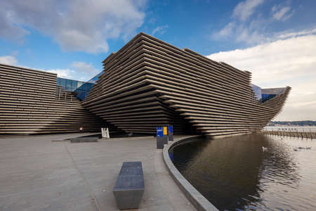 Dundee, Scotland - July 31, 2019: V&A Dundee designed by Kengo Kuma and opened on 18 Sept, 2018 is a first design museum, located in Dundee, Scotland, UK