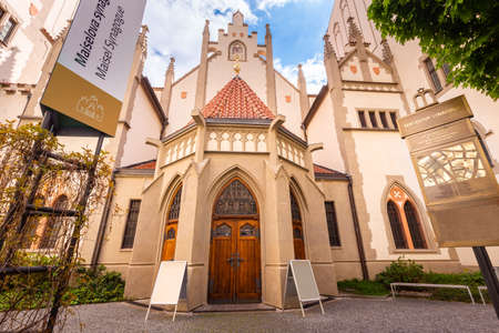 The Maisel synagogue erected in 1592 in former Prague Jewish quarter. The Synagogue contains museum exhibits displaying the Jewish experience in Prague Editorial
