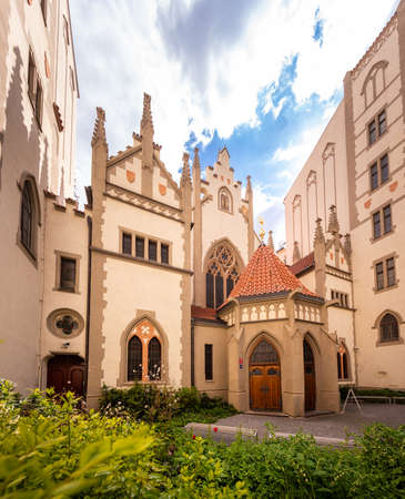 The Maisel synagogue erected in 1592 in former Prague Jewish quarter. The Synagogue contains museum exhibits displaying the Jewish experience in Prague before the Holocaust. Editorial