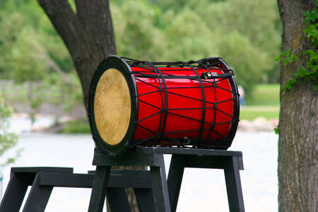 chinese drum: Chinese Drum -- this type is called Tagu in Chinese and Taiko in Japanese Stock Photo
