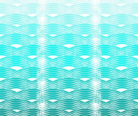 Seamless curvy waves Ilustração