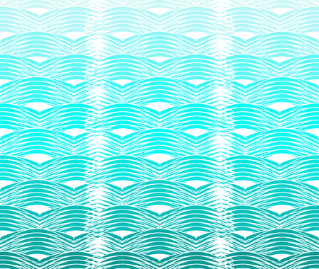 Seamless curvy waves Illustration