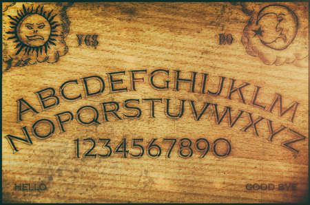 haunting: Ouija Board. Ouija style talking spirit board.