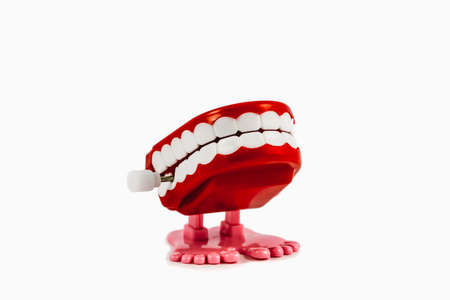 windup: Chattering Teeth Toy 1. Classic chattering teeth wind-up toy.