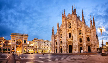 Milan Cathedral, Duomo di Milano, one of the largest churches in the world Фото со стока