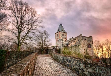 Schloss Frankenstein in Odenwald, Darmstadt, Deutschland Standard-Bild - 47830397