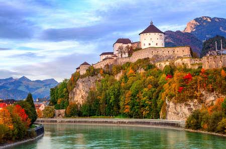inn: Castle Kufstein on the Inn river, Austria