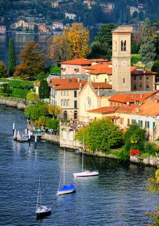 bellagio: Como Lake coast by Bellagio, Milan, Italy Stock Photo