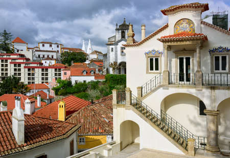 sintra: Sintra town, Portugal, the National Palace in background
