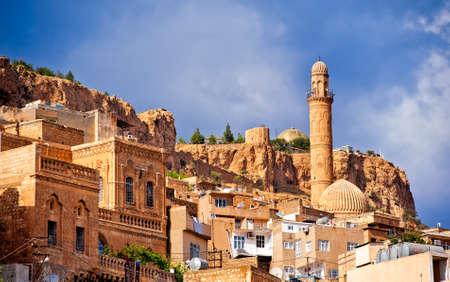 Oude stad van Mardin, kleine stad in de buurt van Diyarbakir op de Syrische grens in Turkije