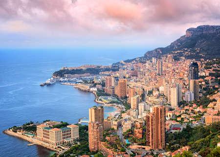 carlo: View of Principality of Monaco at sunrise