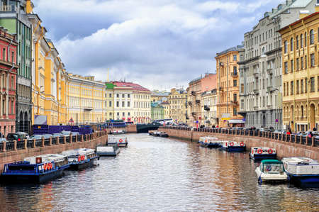 St  Petersburg: St Petersburg, view over Moyka river from Nevsky prospekt Editorial