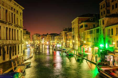 romance sky: Venice, Italy, at night