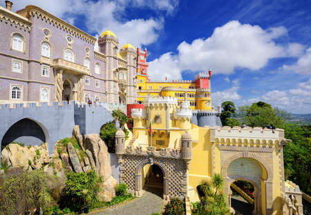 portugal: Pena palace, Sintra, Portugal Stock Photo