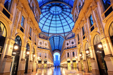 The Galleria Vittorio Emanuele II, one of the worlds oldest shopping malls, Milan, Italy