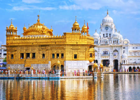temple tower: Golden Temple, the main sanctuary of Sikhs, Amritsar, India