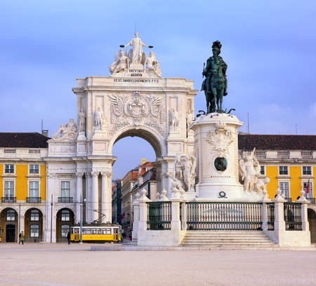 Praca do Comercio square, Lisbon, Portugal