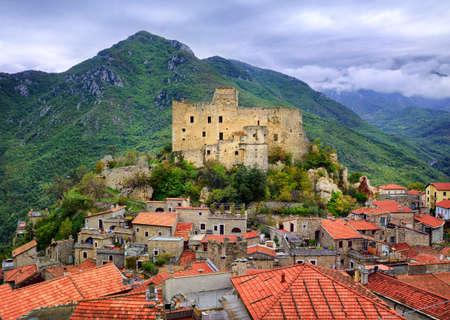 Castelvecchio di Rocca Barbena, alpine village in Liguria, Italy