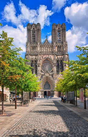 Notre Dame de Reims Cathedral is the place where french kings were crowned, France