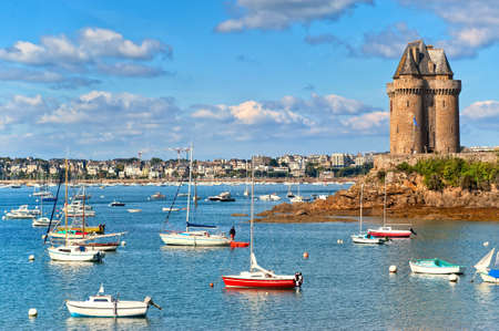 Solidor tower on atlantic coast in  Saint Malo, Brittany, France
