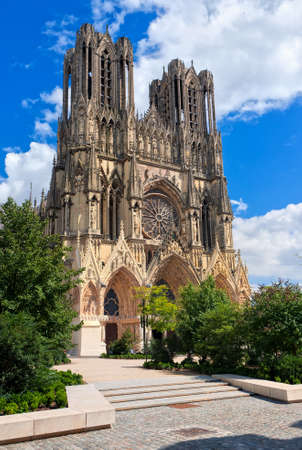 reims: Notre Dame de Reims Cathedral is the place where french kings were crowned, France