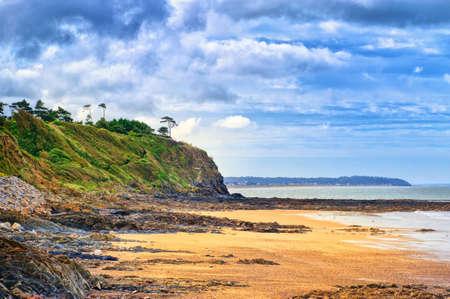 coastlines: Desolated atlantic beach in Normandy by Granville, France