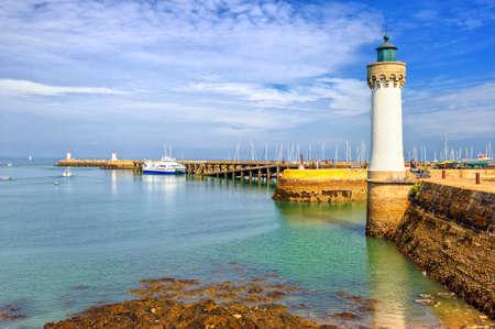 Lighthouse on atlantic coast of Quiberon, Morbihan, France