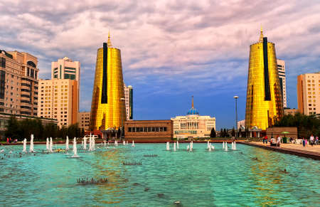 kazakhstan: Astana, capital city of Kazakhstan, view to the Akorda Presidential Palace