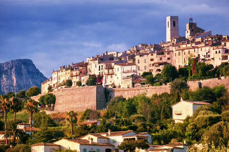 Medieval hilltop village Saint Paul de Vence in Provence, southern France