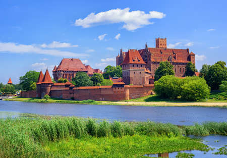 red brick: The Castle of the Teutonic Knights Order in Malbork, Poland, historical Prussia Stock Photo
