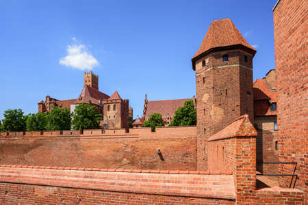 order in: The castle of Teutonic Knights Order in Malbork, Poland, historical Prussia