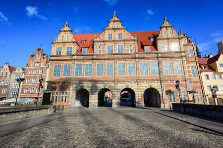 mannerism: The Green Gate, inspired by the Antwerp City Hall, was a residence of Polands monarchs and is now a museum, Gdansk, Poland