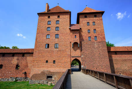 order in: Towers of the castle of Teutonic Knights Order in Malbork, Poland, historical Prussia