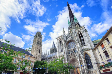world culture: Gothic cathedral of Rouen, Normandy, France, is on World Culture Heritage Site list