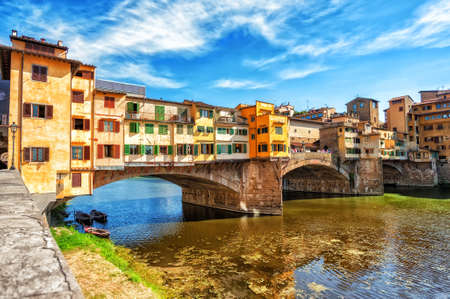 old bridge: The Ponte Vecchio, or Old Bridge, is a medieval stone arched bridge over Arno river in Florence, Italy