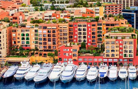 cote: Luxury yachts in Port de Fontveille, Monaco, Cote dAzur, France