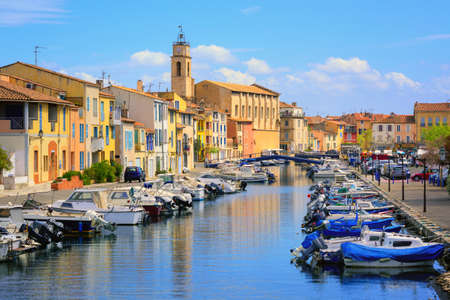 Old town of Martigues in the southern France, called