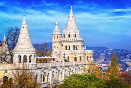 bastion: Fishermans Bastion on the Castle Hill, Budapest, Hungary Editorial