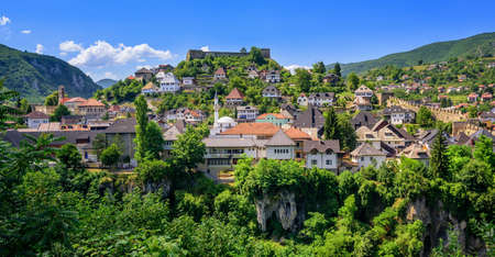 former yugoslavia: The old town of Jajce, historical capital of Bosnia and Herzegovina
