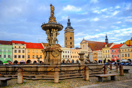 Historical Old Town of Ceske Budejovice, Budvar, Czech Republic