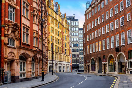 Historical buildings on Great Smith street in London city center, England, United Kingdom