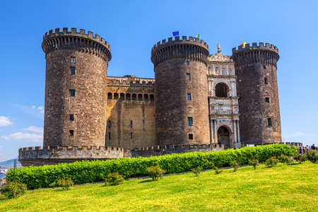 Castel Nuovo or Maschio Angioino, a medieval castle in central Naples, Campania, Italy, is a main architectural landmark of the city