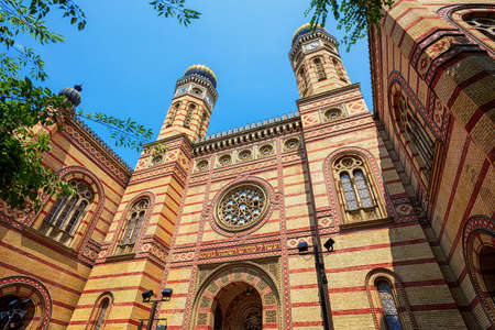 External view of the historical Budapest Great Synagogue in Dohany Street, Hungary
