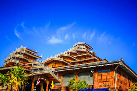 Thai-yai temple in maehongson, Thailand  photo