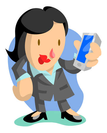 smart phone woman: Business Woman on Phone