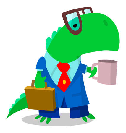 Dinosaur ready for business Vector