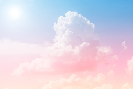 cloud background with a pastel colored orange to blue Archivio Fotografico