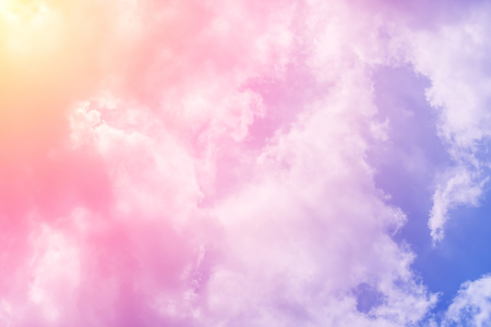 cloud background with a pastel colored gradient Stock Photo
